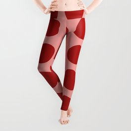 Irregular Polka Dots pink and red Leggings