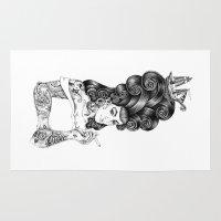 rockabilly Area & Throw Rugs featuring rockabilly by vasodelirium
