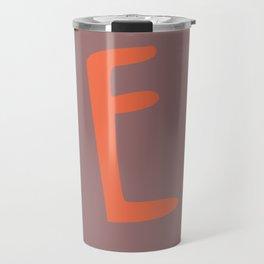 The Letter E Brush Typography Travel Mug
