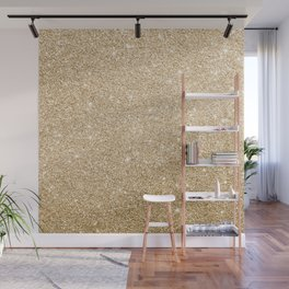 Modern abstract elegant chic gold glitter Wall Mural
