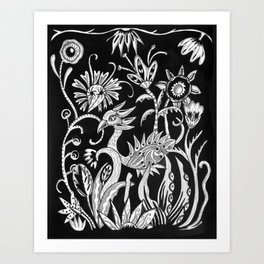 Bird Nouveau Art Print