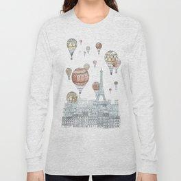 Voyages Over Paris Long Sleeve T-shirt