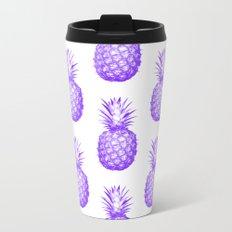 Purple Pineapple Metal Travel Mug