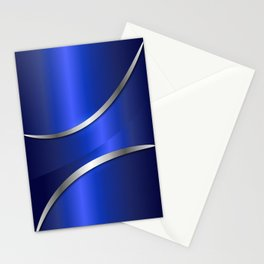 Metallic blue 180415 Stationery Cards