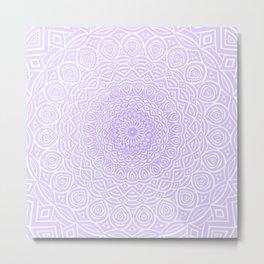 Purple Violet Mandala Design Extra Detailed Geometric Ethnic Tribal Pattern Metal Print
