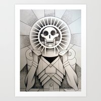 Mictlantecihuatl (Aztec Lady of the Dead) Art Print
