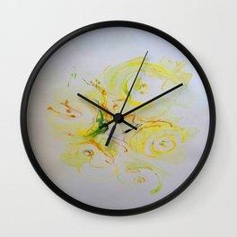 crescent of roses Wall Clock
