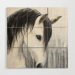 White Horse Wood Wall Art