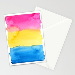 Pansexual Flag Stationery Cards
