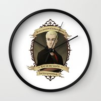 buffy the vampire slayer Wall Clocks featuring Spike - Buffy the Vampire Slayer/Angel by muin+staers