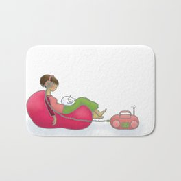 quiet contemplation Bath Mat