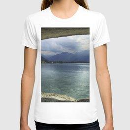 Lake Geneva 4k mountains Europe HDR Switzerland T-shirt