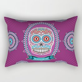 Mexican Skull Rectangular Pillow