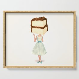 Cake Head Pin-Up - Chocolate Serving Tray