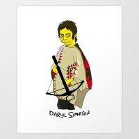 simpson Art Prints featuring Daryl Simpson by sara banu