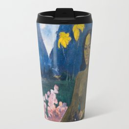 The Seed of the Areoi by Paul Gauguin Travel Mug