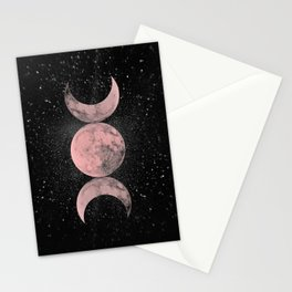 Pink Moon Symbol Stationery Cards