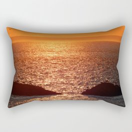 Orange Skies at Sunset Rectangular Pillow