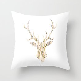 Upcycled Reindeer Throw Pillow