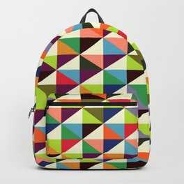 Geometric Pattern 86 (colorful mid-century triangle) Backpack