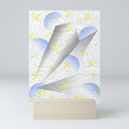 Moon & Stars design Mini Art Print