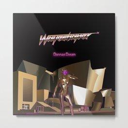 Waveshaper 80s synthwave cyberpunk robot Metal Print