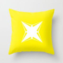 White star Throw Pillow