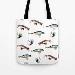 Vintage fishing lures -watercolor  Tote Bag