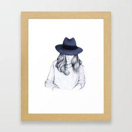 Girl on the Train Framed Art Print