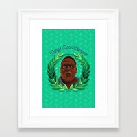 notorious big Framed Art Prints featuring NOTORIOUS by badOdds