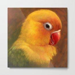 Fischer lovebird realistic painting Metal Print