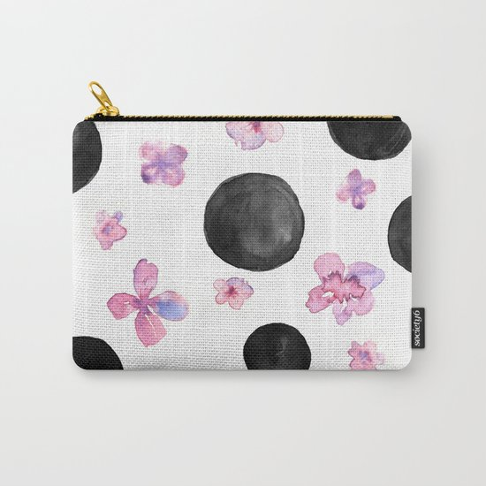 Flora dots Carry-All Pouch