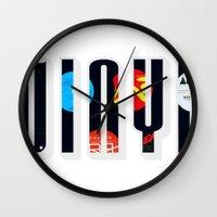 vinyl Wall Clocks featuring Vinyl by Danielhry