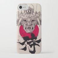 murakami iPhone & iPod Cases featuring Samurai by Ayesha Jehan