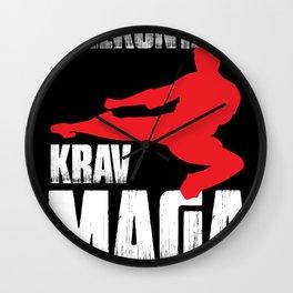 Krav Maga martial arts fighter training Wall Clock