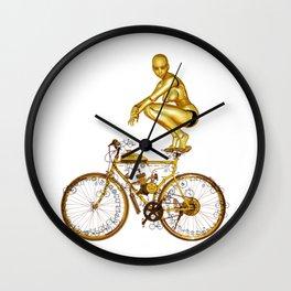 Golden Robo and Golden Bike Wall Clock