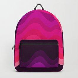 Pink Retro Ripple Backpack