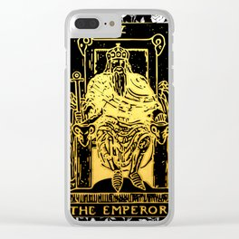 The Emperor - A Floral Tarot Print Clear iPhone Case