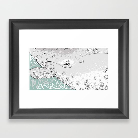 For A Hungry Barnacle Framed Art Print