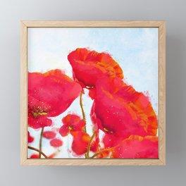 Morpheus' Garden Red Poppies Framed Mini Art Print