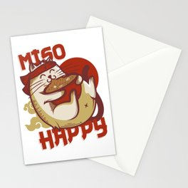 Miso Happy Cat Lover Gift Stationery Cards