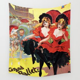 French cancan Paris Brighton Grand Ballet Wall Tapestry