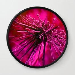 Wild Flower-Fuchsia Wall Clock