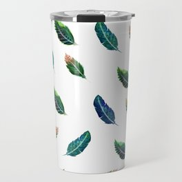 Watercolor Tribal Feathers Travel Mug