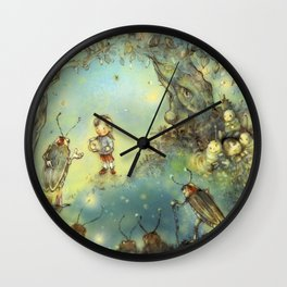 Firefly Forest Wall Clock