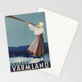 Vintage poster - Sweden Stationery Cards