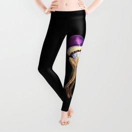 Purple Rope Jellyfish Leggings
