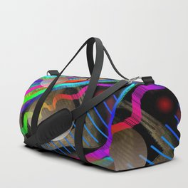 Rainbow Wave Duffle Bag