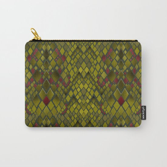 Snakeskin graphics. Carry-All Pouch