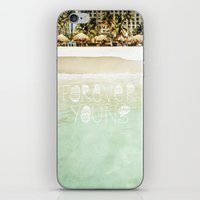 forever young iPhone & iPod Skins featuring Forever Young by Jenndalyn